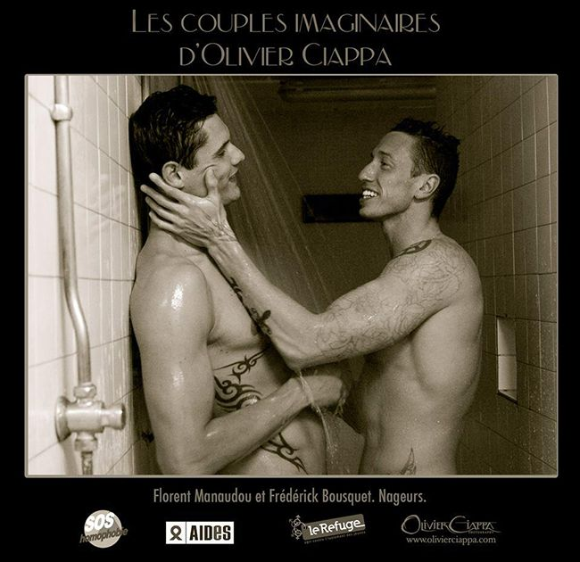 Florent Manaudou & Frédérick Bousquet, French swimmers Photo by Olivier Ciappa