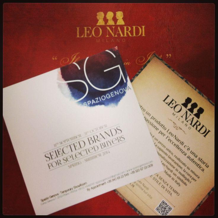 LEO NARDI vi aspetta per la sua prima campagna vendite a Spazio Genova Showroom (Corso Genova 7, Milano - fino al 31 ottobre)!