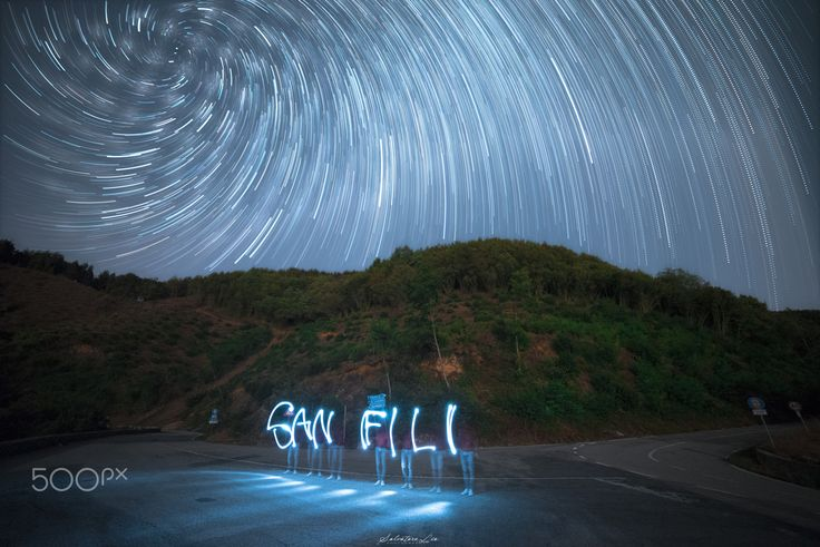 In this Night of stars! - Double exposure fot this work : Light painting fot the…