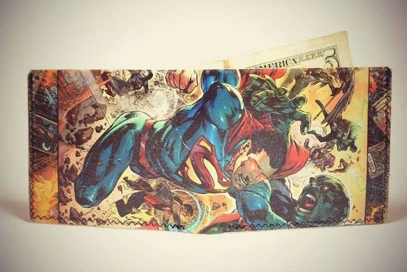 Buy Comic Wallet -  Superman by 19youth. Explore more products on http://19youth.etsy.com