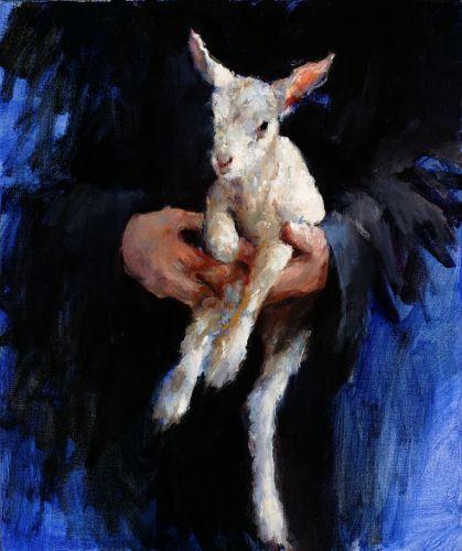 Dinie Boogaert, The Lamb, oil on canvas 2005, 60x50cm