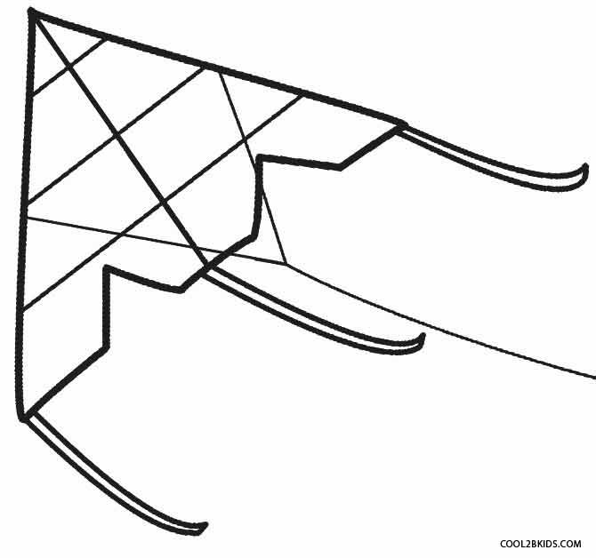 printable kite coloring pages for kids cool2bkids - Kite Coloring Page