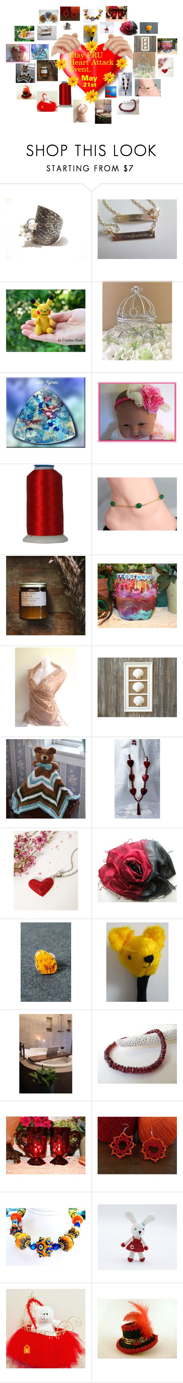 Etsy FRU Heart Attack Event May 21st !!!!!!! by zebacreations on Polyvore featuring Scialle and Avon