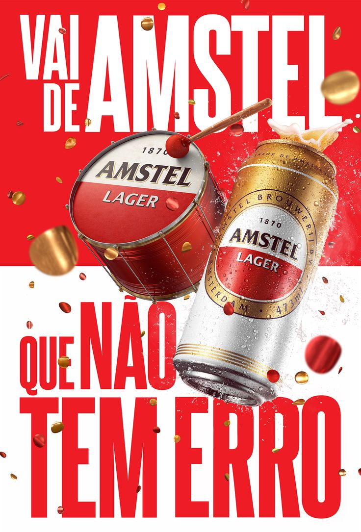 Poster design using 3d objects - Jwt Amstel On Behance