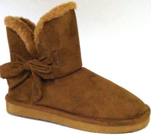 Womens Mini Faux Sheepskin Fur Shearling Boots W/Bow 7 Colors, http://www.amazon.com/dp/B00ESG3C2A/ref=cm_sw_r_pi_awdm_95dHsb0X8Q4T0
