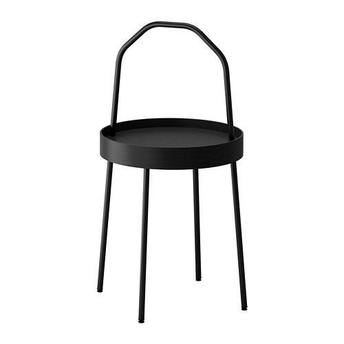 BURVIK Side table - black - IKEA