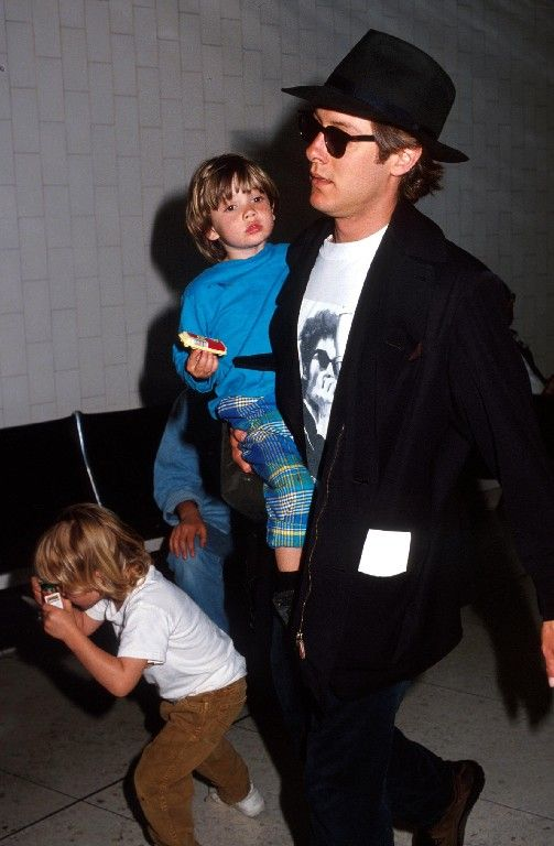 James Spader with sons
