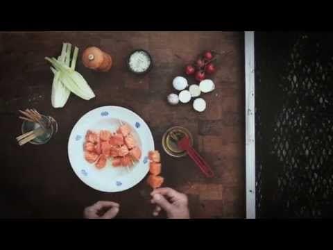 Il segreto del Salmone Norvegese alla griglia: gli spiedini - YouTube