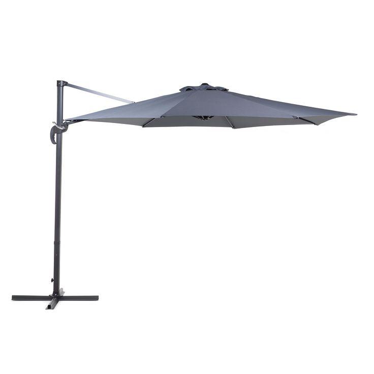 Beliani Cantilever Patio Umbrella   10 Ft / 3 M Diameter   Savona (Savona  Dark