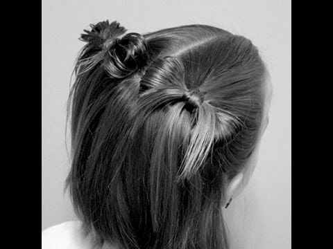 This is a bow using a topsy-tail to finish it off. Super cute and super simple.