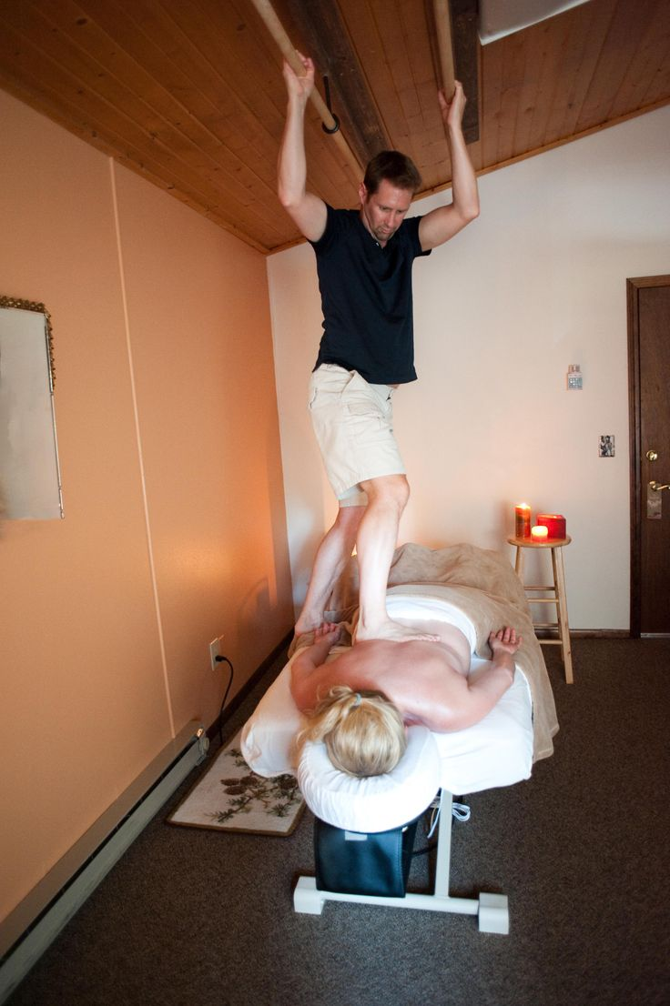 Ashiatsu.  Here's me in action in my office working on my wife Sharmon, see more at http://www.johnnycmassage.com/