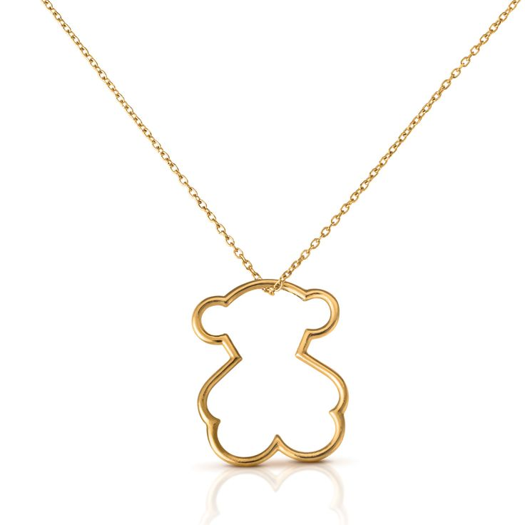 18kt yellow gold TOUS Silueta necklace and pendant - TOUS US Shop Online    $355