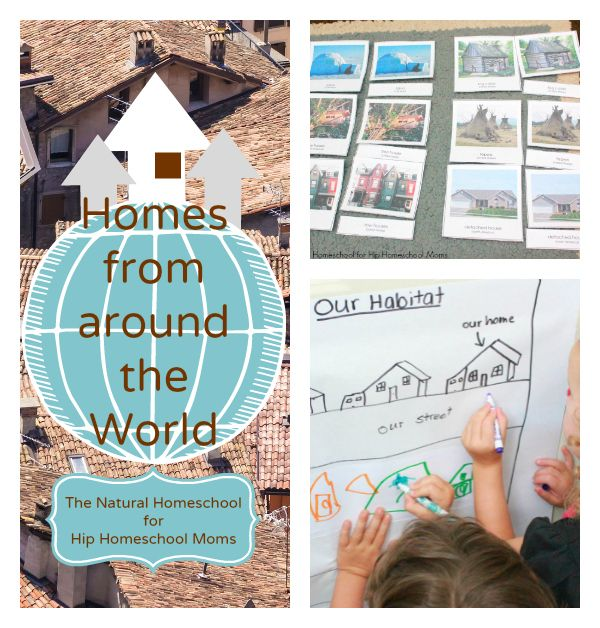 This was a wonderful lesson where my children explored their habitat and learned about homes where people live.