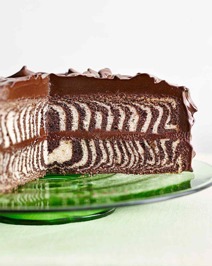chocolate-and-vanilla zebra cake