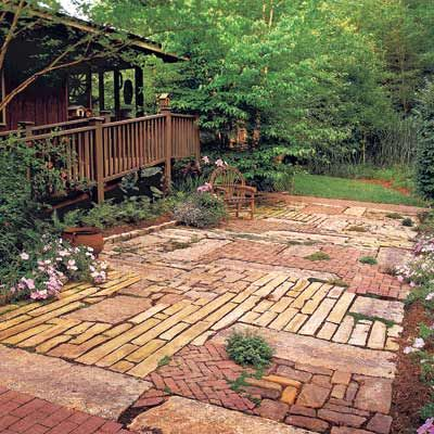 Patchwork Patio (Photo: Ralph Anderson | thisoldhouse.com | from A Year's Worth of Smart Home Solutions)