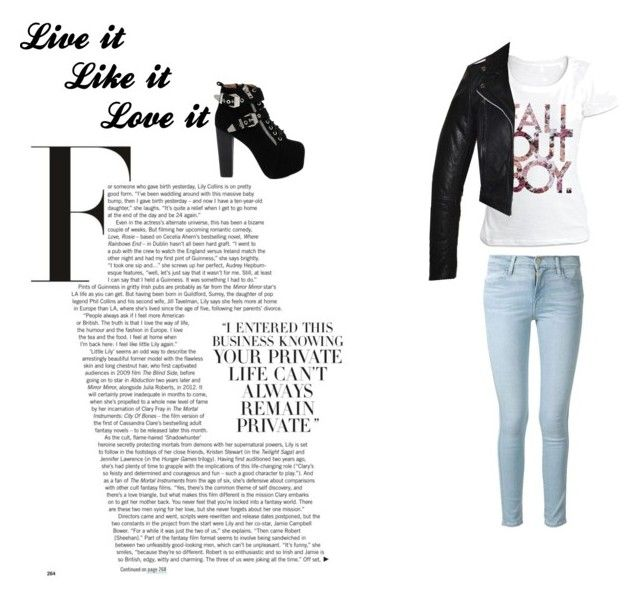 """""""My friends"""" by isabelle071102 on Polyvore featuring Frame Denim and Jeffrey Campbell"""