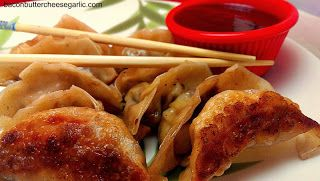 Cajun BBQ Potstickers...fusion at its best.  Think outside the box.  The sauce is amazing!