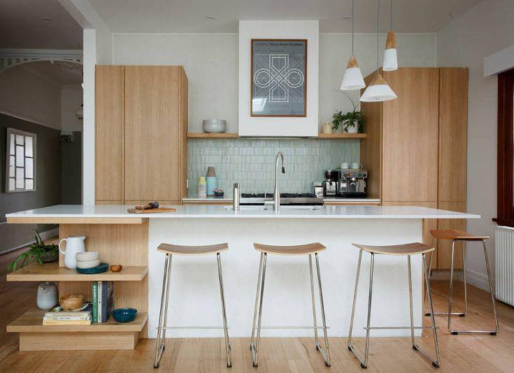 Best 25 mid century modern kitchen ideas on pinterest for Warm kitchen ideas