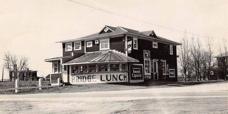 louiseville la caillette | Restaurant Bridge Lunch, prop. Gérard Lincourt, vers 1948.