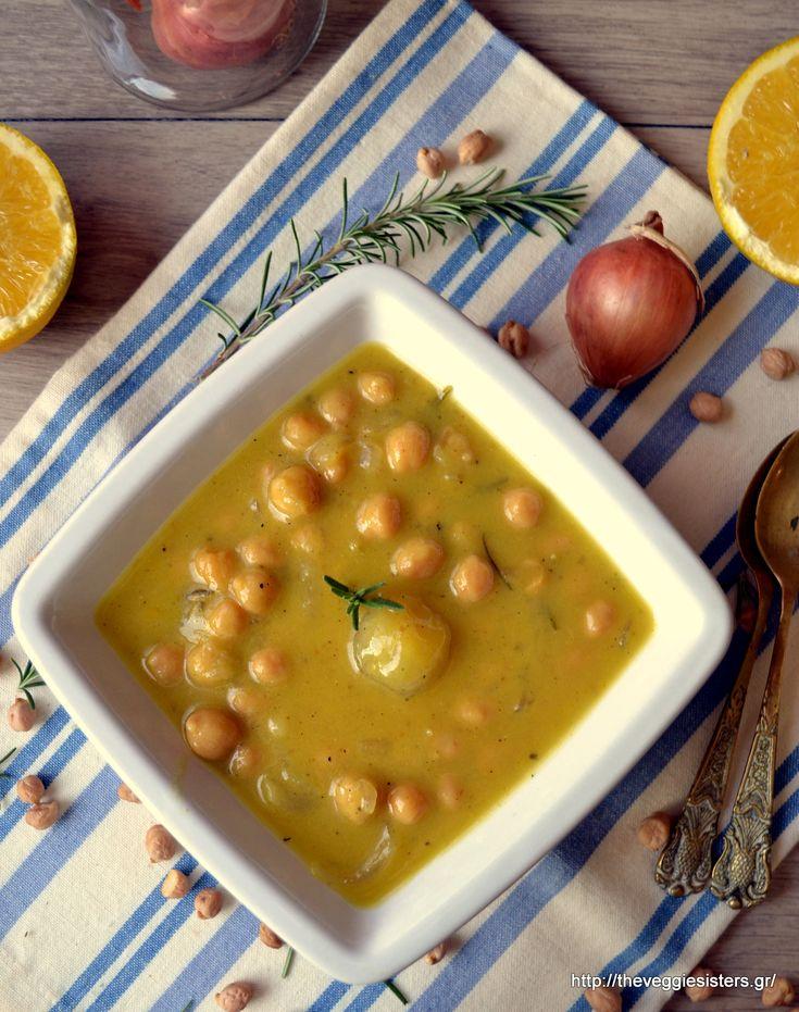 Ρεβυθάδα με πορτοκάλι, μουστάρδα, δεντρολίβανο κ κοκκάρια - Chickpea orange pearl onion stew