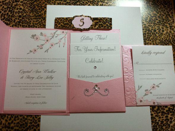 Folded Wedding Invitations With Pockets Templates Pocket Fold Invite Redo