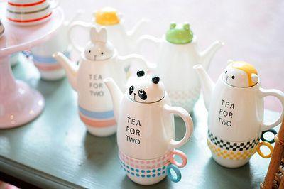 : Teas For Two, Teas Time, Kitchens Ware, Teas Pots, Teas Sets, Photo, Animal Teapots, Teas Parties, Conver Pieces