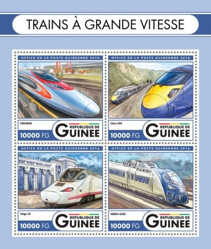 GU16420a Speed trains (CRH380A; Class 395; Talgo 25; HEMU-430X)