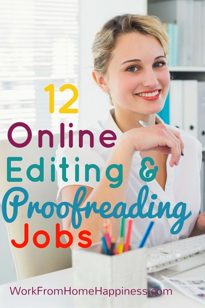 Help make good writing great as an online editor or proofreader. Super flexible, most of these opportunities let you work when you want and how much you want!