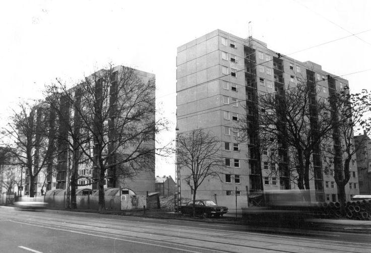 Haller utca (Hámán Kató út), házak a Nagyvárad tér és a Tűzoltó utca között. 1981