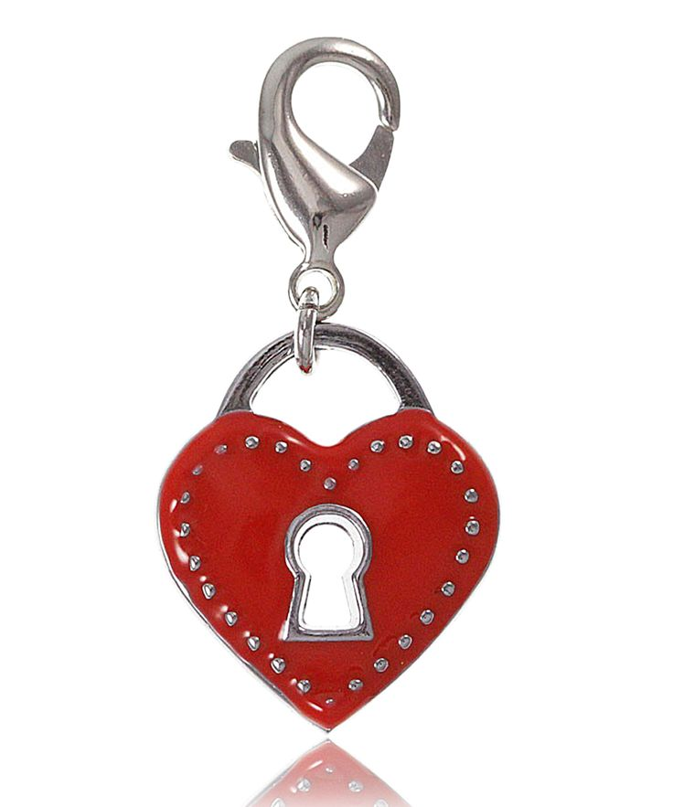 Charm cadenas dans coeur rouge - So Charm
