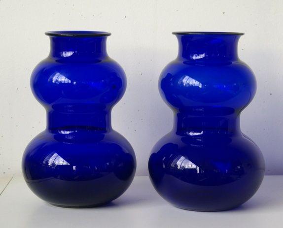 Hadeland- To store blå vaser