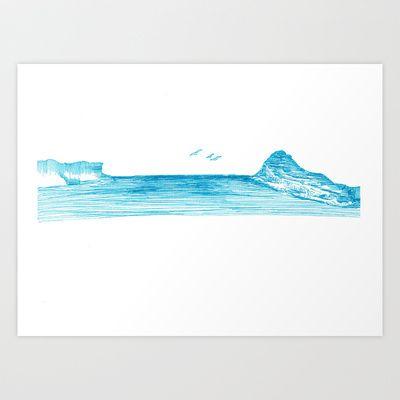 Pearl+Beach+Art+Print+by+Daggy+Jess+-+$15.00