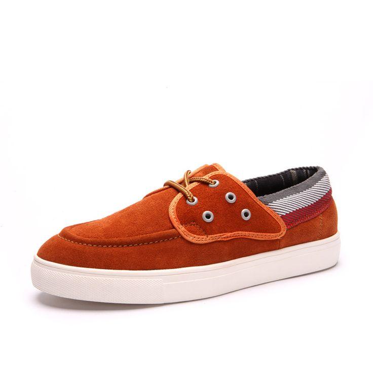 Купить товар2014 новинка весна и лето мужская скейтбординг туфли кроссовки мужчины geniune кожаные ботинки нескольких цветов высокое качество в категории Обувь для скейтбордингана AliExpress.