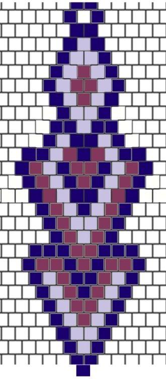 brick-stitch earring diagram