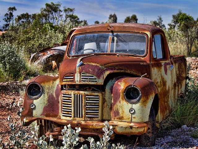 """""""Unwanted"""" - Another old car from Lightning Ridge. Lots of them dumped around the mine fields 