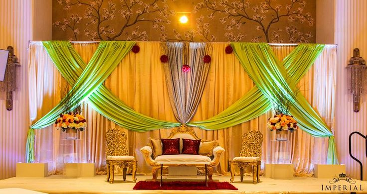 Imperial Decorations - Indian Wedding Stage BackDrop ...