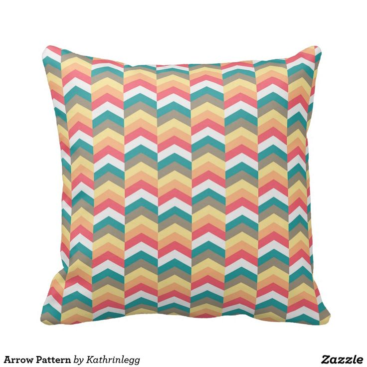 Arrow Pattern Cushion by Kathrin Legg
