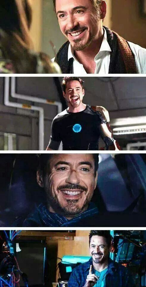 Best smile ever. Robert Downey Jr.                                                                                                                                                      More