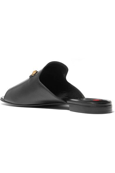 Gucci - Horsebit-detailed Leather Slides - Black - IT36.5