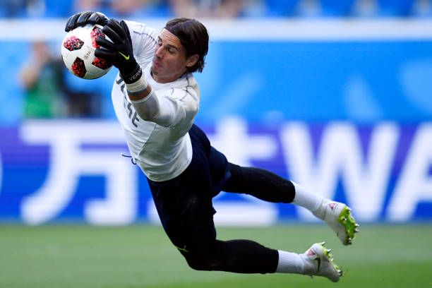 Switzerland S Goalkeeper Yann Sommer Warms Up Before The Russia 2018 World Cup Round Of 16 Football Match Between Sweden And S Warmup Football Match