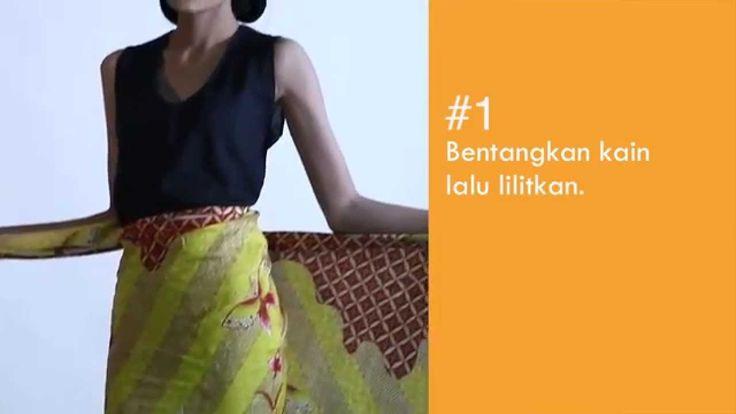 Tips how to wear a batik in a drapery skirt. #Batik #Javanese #IndonesianBatik