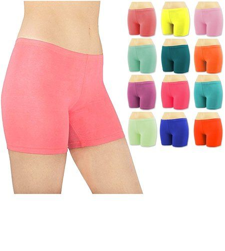 Women\'s 6 Pack Cotton Stretch Vibrant Color Boy Short Boxer Briefs . Starting at $6