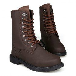 $19.56 Lace-Up and Round Toe Design Boots For Men