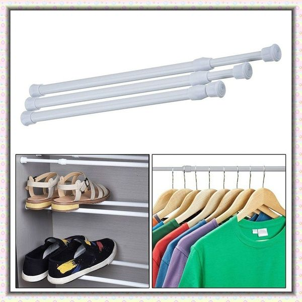 New Arrival Extendable Adjustable Spring Tension Rod Rail Pole