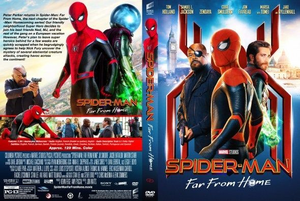 Spider Man Far From Home 2019 Dvd Free Shipping In 2020 Cute Love Stories Spiderman Cover Art