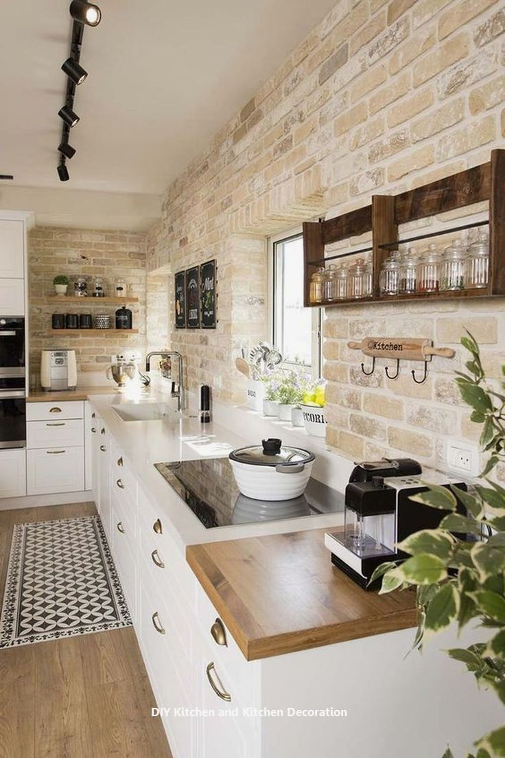 10 Absolutely creative home improvement work in your kitchen: 2. Window shelves