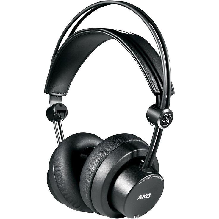 AKG K175 Closed Back Supra-aural Studio Headphones Black