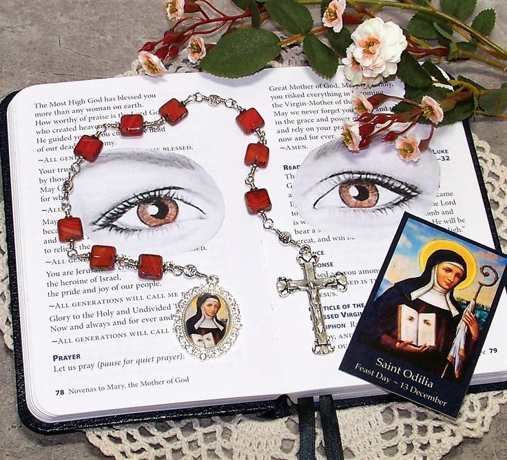 Unbreakable Catholic Chaplet of St. Odilia of Alsace - Patron Saint of Blind People and Against Eye Diseases / Eye Problems by foodforthesoul on Etsy