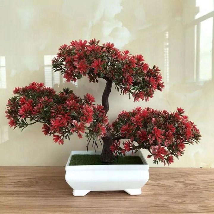 Sztuczne Drzewko Bonsai Z Doniczka Kwiat Roslina 8086550663 Oficjalne Archiwum Allegro Artificial Plants Artificial Plants Outdoor Bonsai Pots