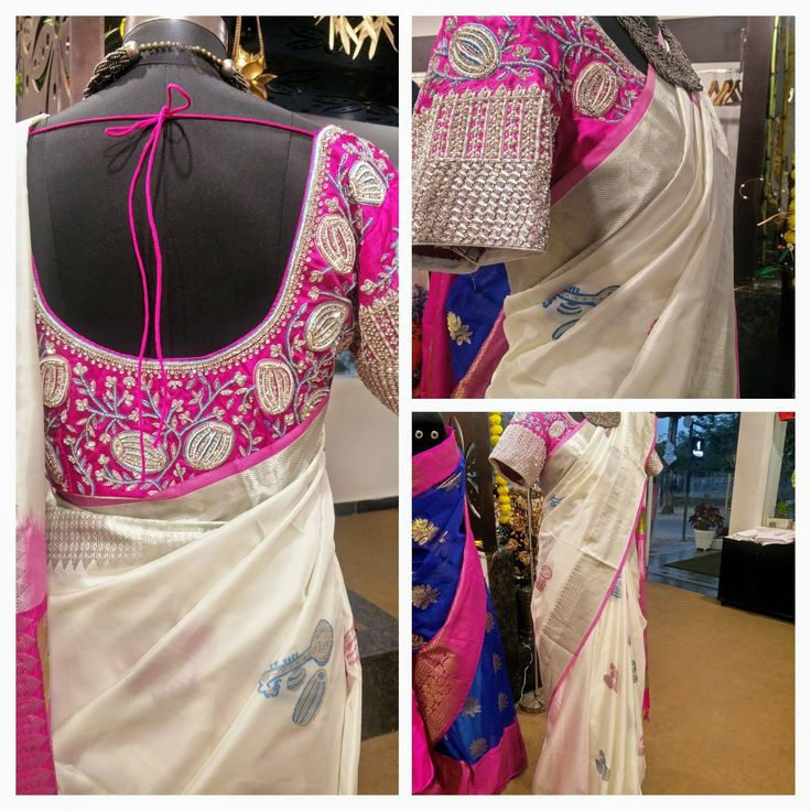 GORGEOUS WHITE KANJIVARAM SAREE WITH INSTRUMENT DESIGNS AND HANDCRAFTED WORK BLOUSE PERFECT FOR TRADITIONAL LOOK . They can customise the design as per your requirement To Order : Whatsapp +91 9246 44 33 66